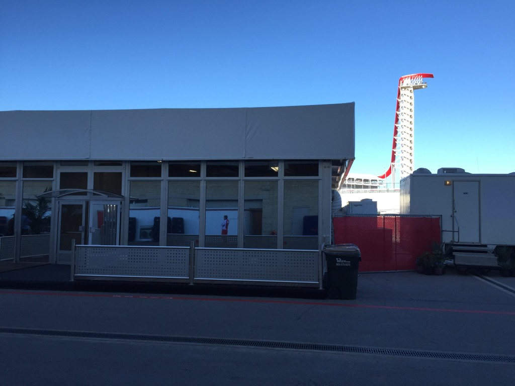 The Marussia Garage sits empty this weekend at Circuit of The Americas